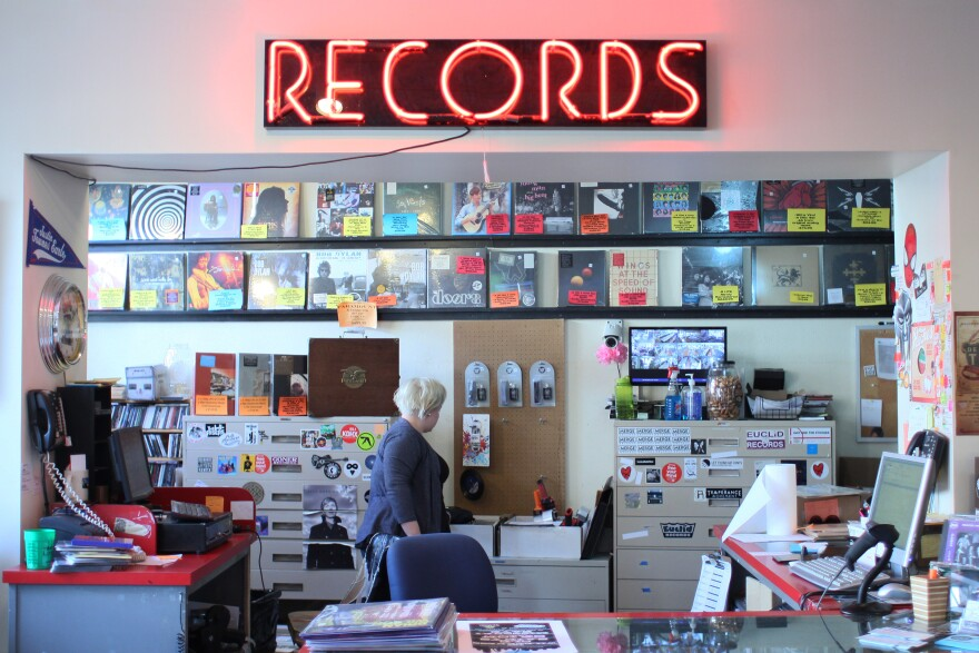 Inside Euclid Records in Webster Groves
