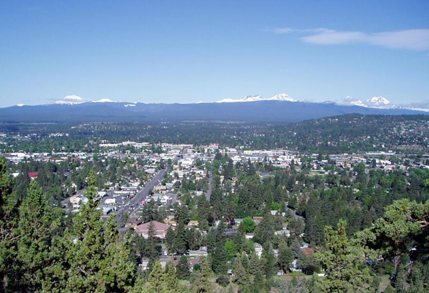 Bend, Oregon, earns the moniker of being a Zoom town by virtue of strong in-migration and soaring home sales during the pandemic. (Tom Banse)