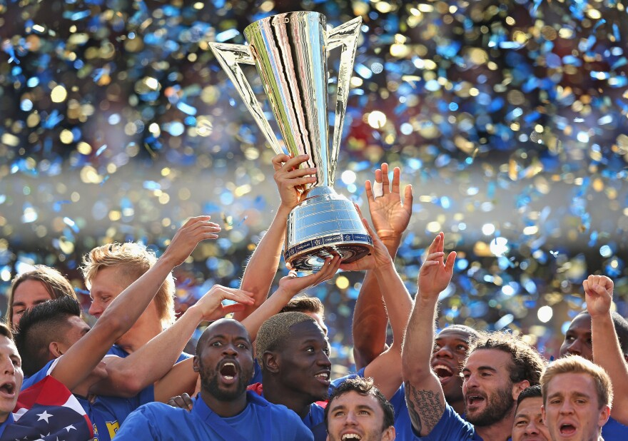 The U.S. men's soccer team celebrates a 1-0 win over Panama to capture the CONCACAF Gold Cup. It might not be much in the eyes of the soccer world, but it's enough to give fans real hope for the 2014 World Cup in Brazil.
