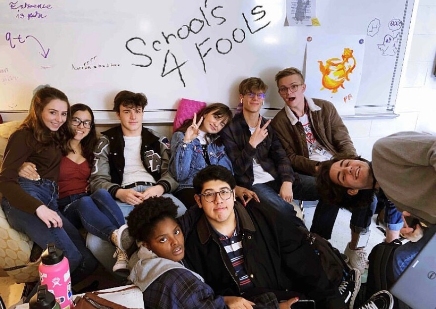 A.J. Walls' group of friends pose for a photo during the 2019-2020 school year.