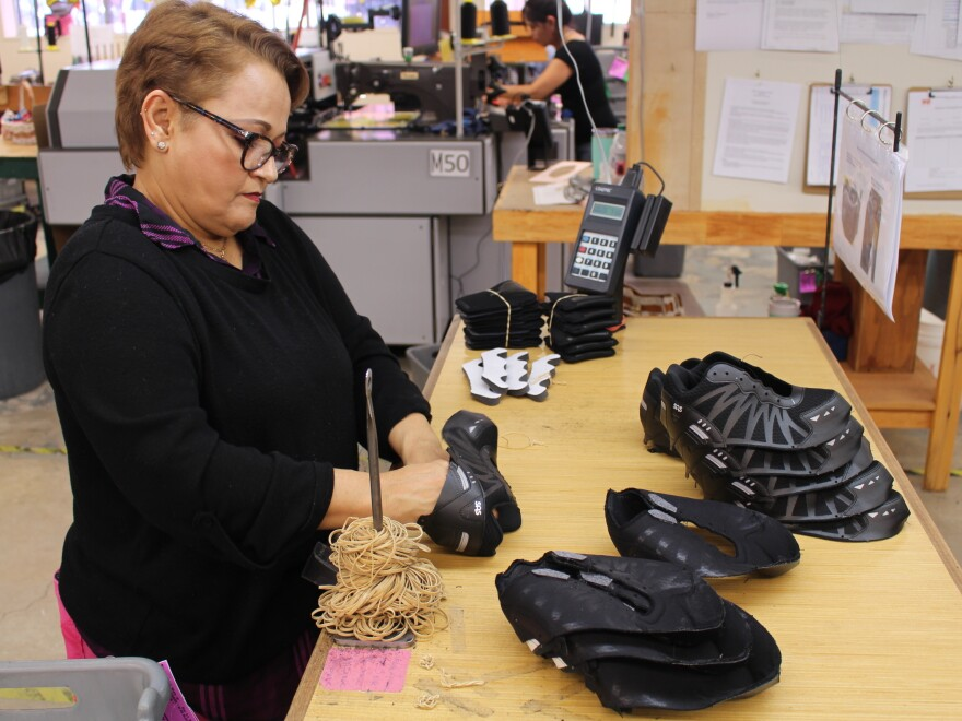 San Antonio Shoemakers has been making shoes in Texas since the 1970s. SAS recently got a big contract to make sneakers for the U.S. military.