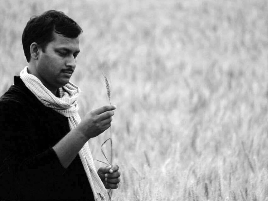 Girindra Nath Jha returned to his boyhood village of Chanka. Now he's teaching farming and English — and he's started a writer's retreat.