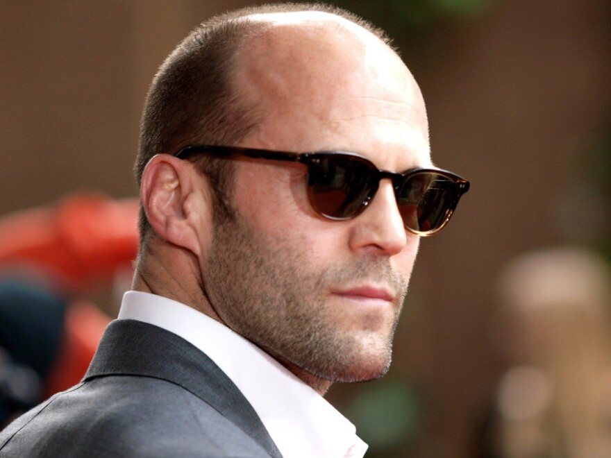 """""""Macho types are inspired by the likes of Jason Statham,"""" pictured here, writes Daniel Jones."""