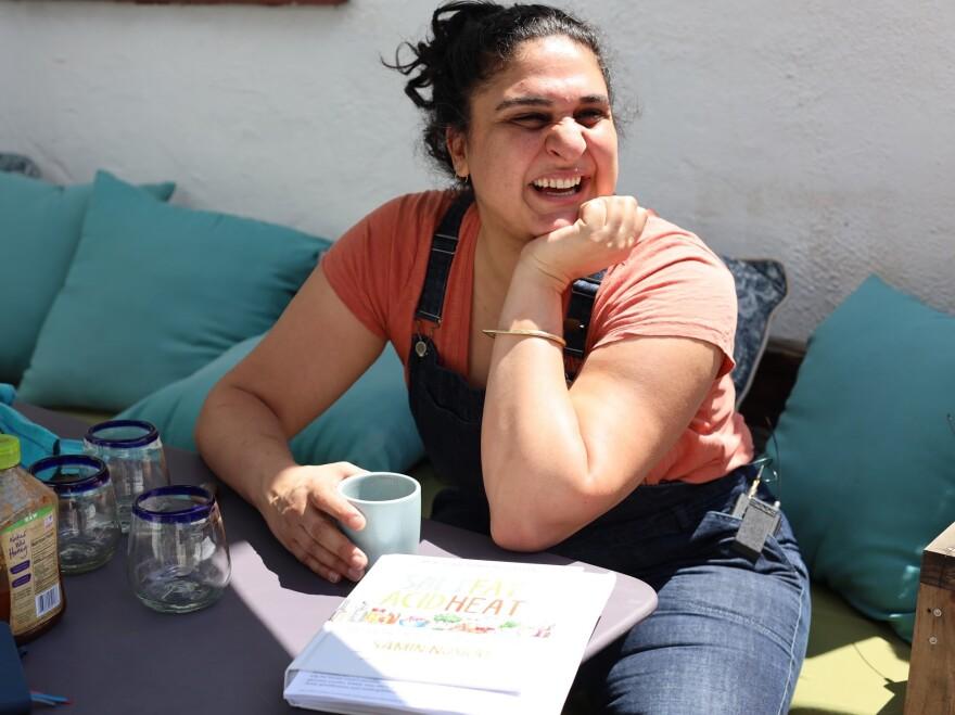 Samin Nosrat, author of the cookbook <em>Salt, Fat, Acid, Heat: Mastering the Elements of Good Cooking.</em>