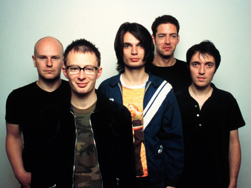 Radiohead, pictured in 1997, around the original release of <em>OK Computer.</em>