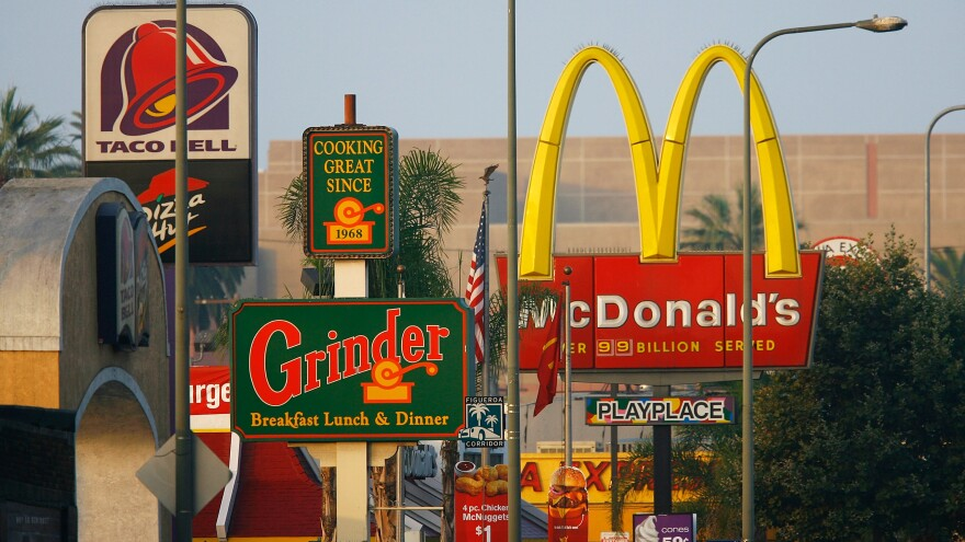 """An economist with the Rand Corporation argues that Los Angeles' fast-food ban failed because it merely blocked new construction or expansion of """"stand-alone fast-food"""" restaurants in neighborhoods where that style of restaurant was uncommon to begin with."""