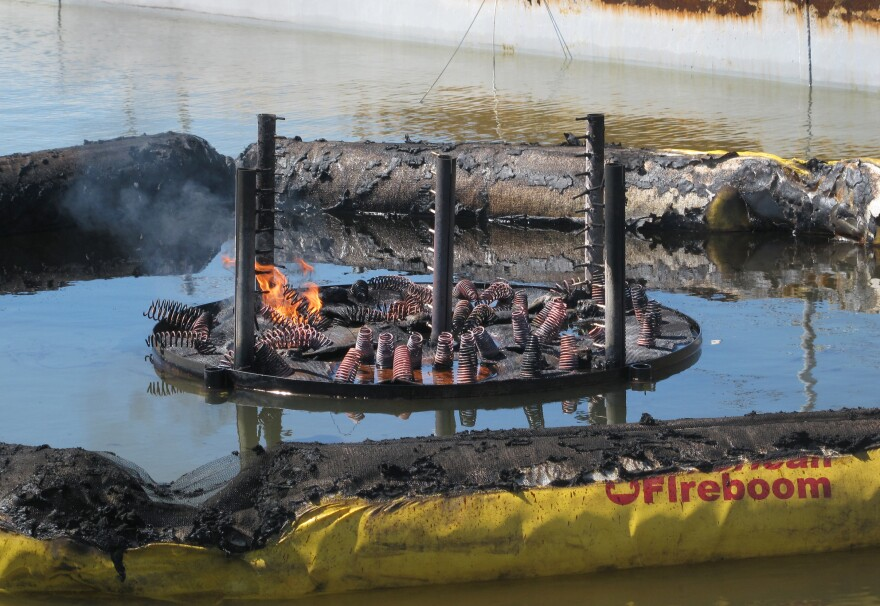 The Flame Refluxer after a test burn.