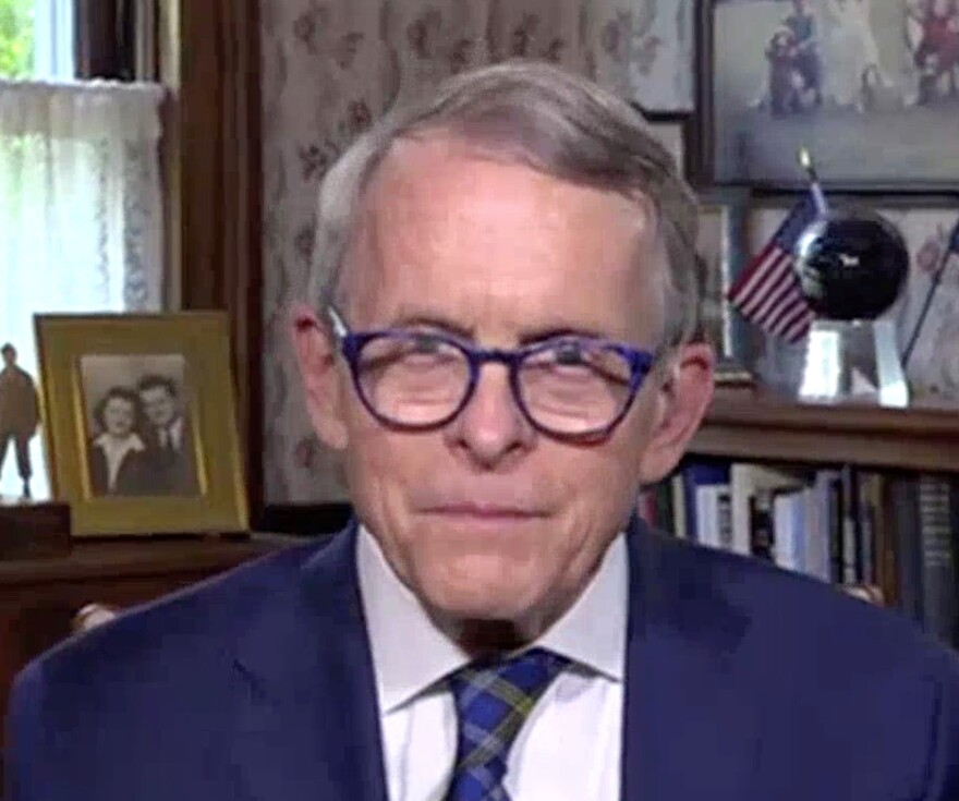 "Gov. Mike DeWine spoke with ""The State of Ohio"" host Karen Kasler from his home in Cedarville on Thursday, September 3."