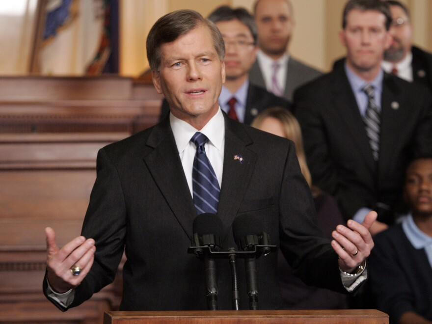 Then-Virginia Gov. Bob McDonnell gestures as he delivers the Republican Response to the State of the Union in the Virginia House of Delegates chambers at the Capitol in Richmond, Va., on  Jan. 27, 2010.