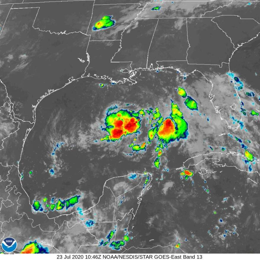 radar image of tropical depression eight