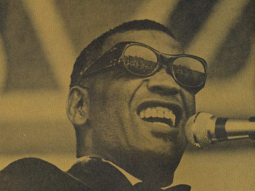 Ray Charles performs at The Newport Jazz Festival in 1968.