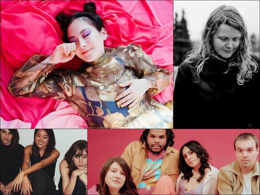Clockwise from upper left: Japanese Breakfast, Kate Tempest, Mannequin Pussy, Patio