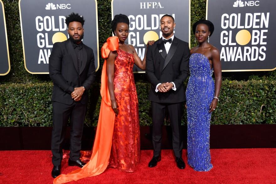 Left to right: Ryan Coogler, Danai Gurira, Michael B. Jordan, and Lupita Nyong'o