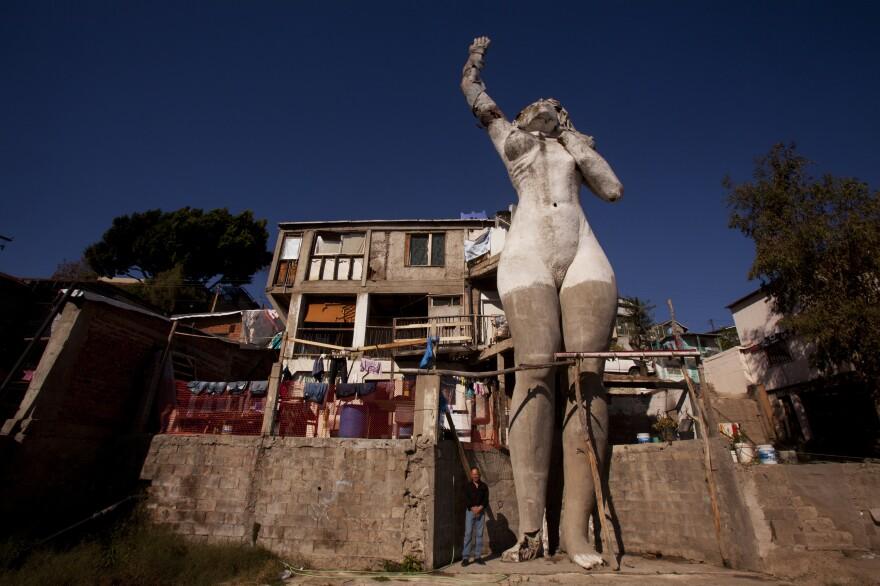 Armando Munoz built this 55-foot statue for Tijuana's centennial celebration in 1990.