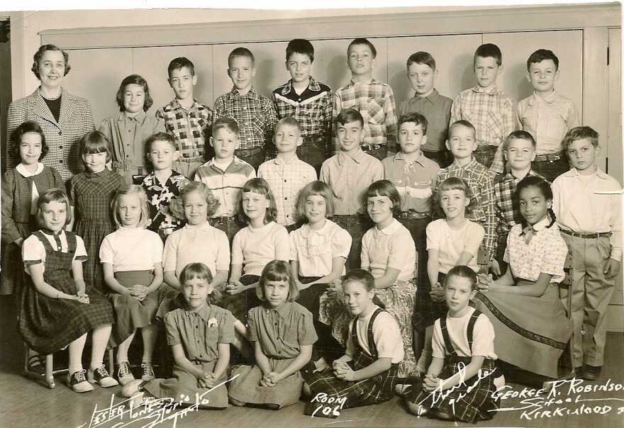 Dorothy Hunter's third grade class at Kirkwood's Robinson School, 1955.