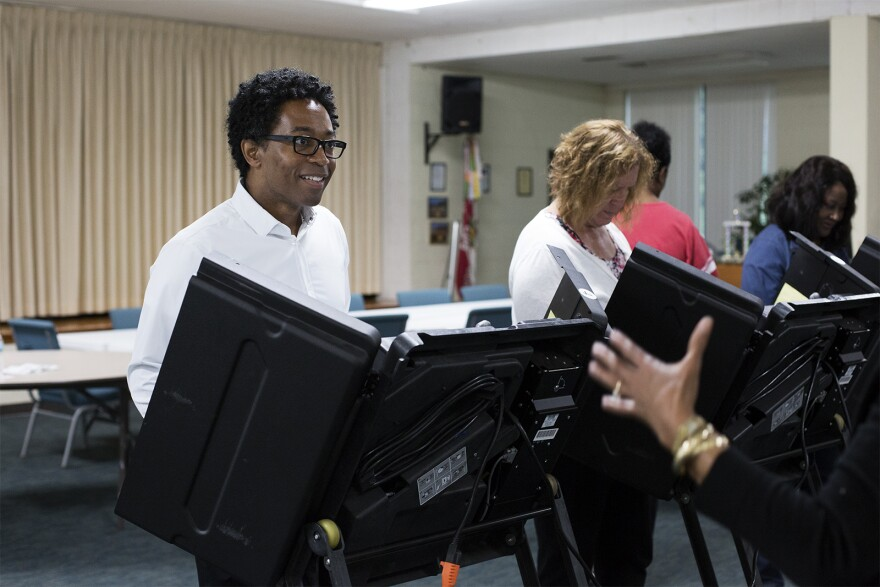 Wesley Bell, candidate for St. Louis County prosecutor, votes at First Presbyterian Church in Ferguson on Tuesday morning. Aug. 7, 2018.