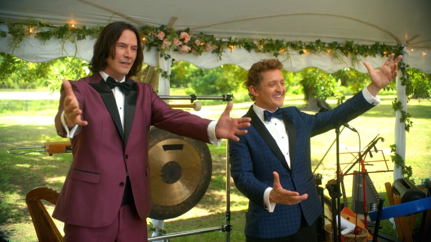 Bill and Ted are playing weddings when we first find them in <em>Bill & Ted Face The Music. </em>