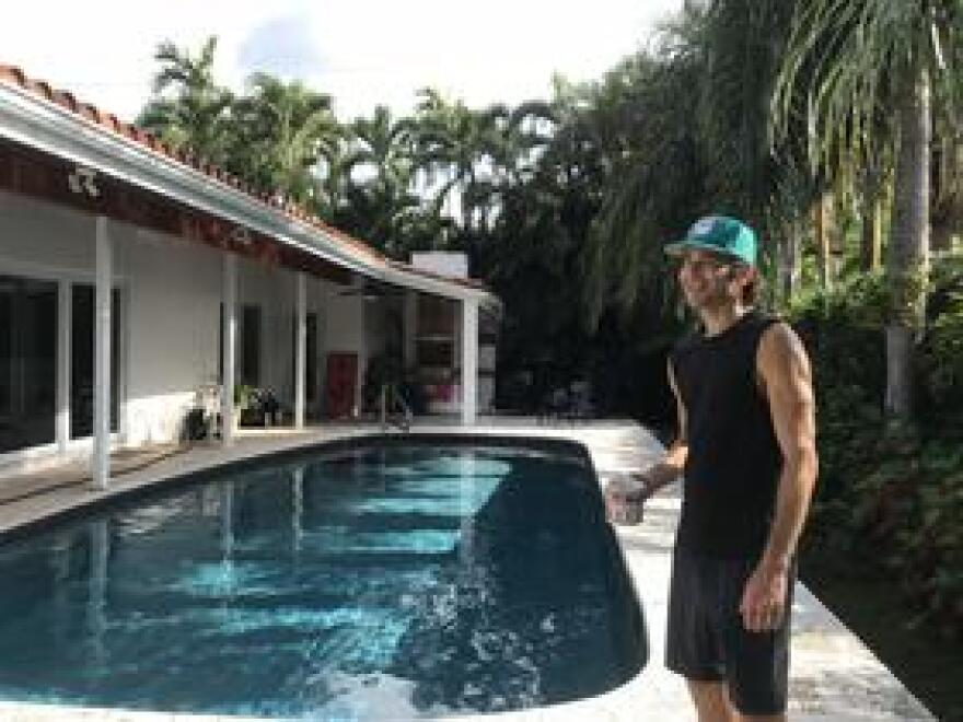 Tadd Schwartz says his house escaped storm surge flooding during Hurricane Irma, but many of his neighbors weren't so lucky. He's worried about how the value of his home will likely decrease as flood insurance costs go up with the rising seas.