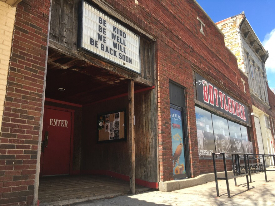 It's not clear whether The Bottleneck in Lawrence will be among the businesses allowed to reopen in Kansas after the state-at-home order is lifted.