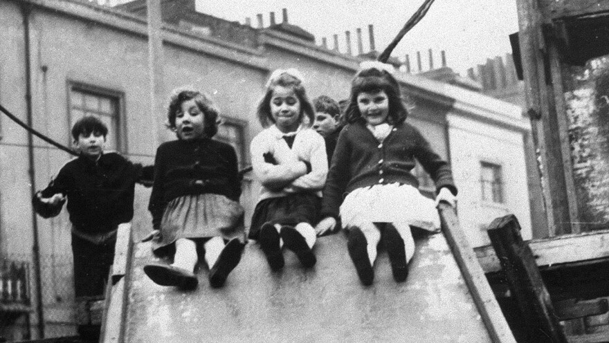 Jackie, Lynn and Sue — pictured here at age 7 — are three of the children featured in the landmark 1964 documentary <em>7 Up</em>. The series returns this year with <em>56 Up,</em> checking in with a group of 14 men and women whose lives have been documented since they were kids.