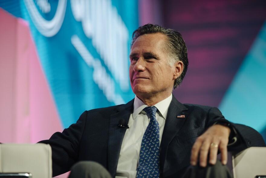A photo of Mitt Romney.