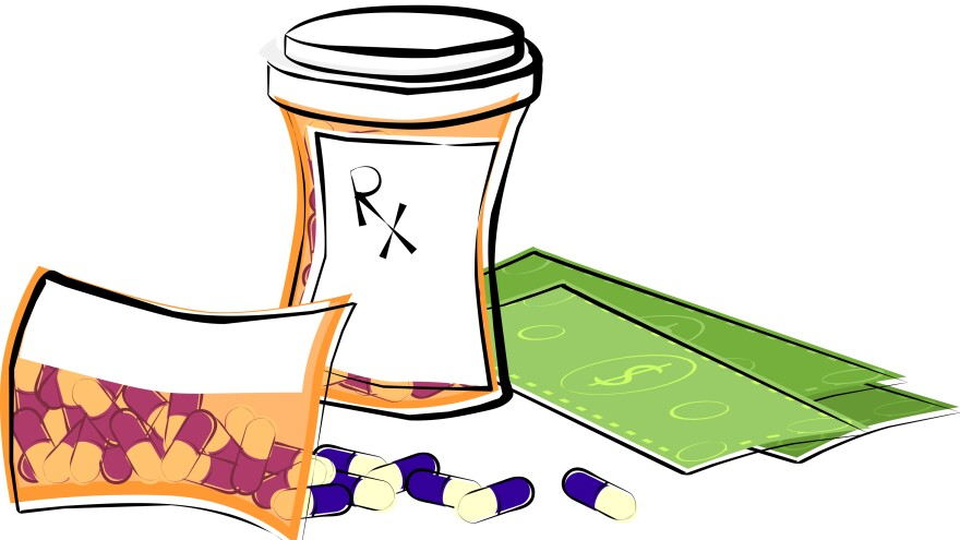 Expensive prescriptions drugs can stretch people's finances, even if they have insurance.