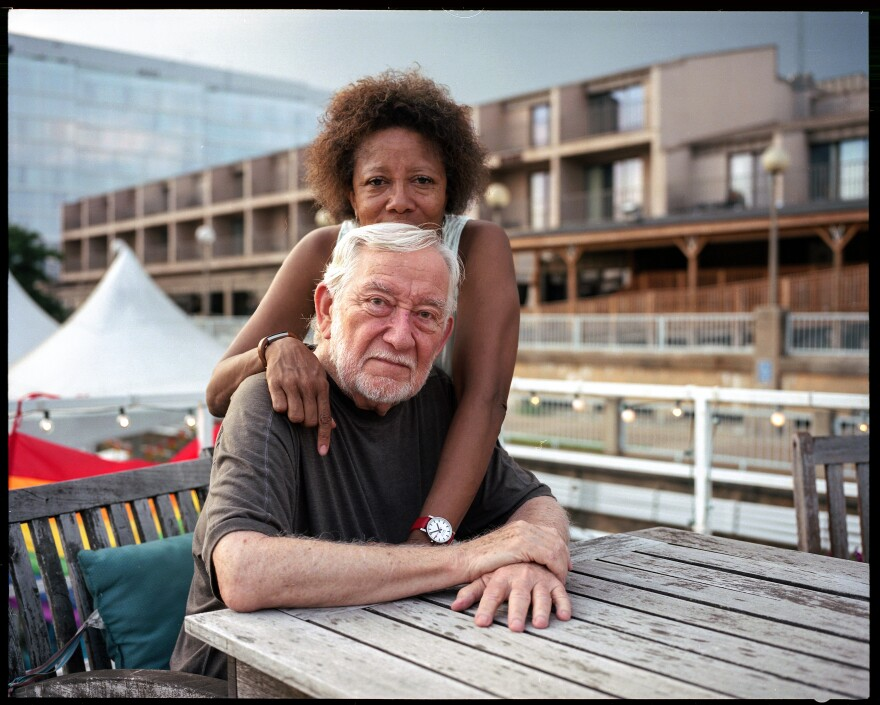 Laneyse Hooks and Dick Marchi, aboard Our Island, have lived at Gangplank since 2007.