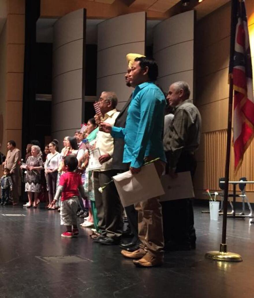 Naturalization ceremony in Akron