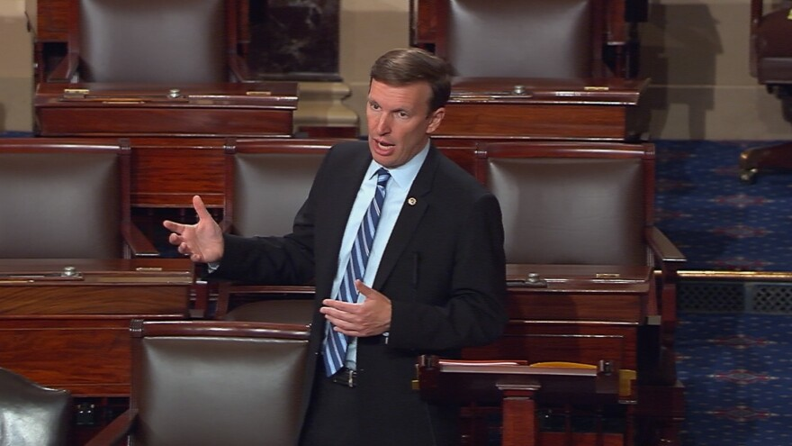 """Sen. Chris Murphy of Connecticut said on Twitter that he was prepared to """"talk about the need to prevent gun violence for as long as I can."""""""