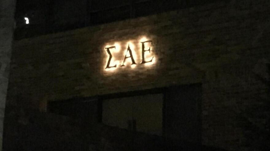 The exterior of the Sigma Alpha Epsilon house at the University of Oklahoma. The chapter was closed by the organization's national office.