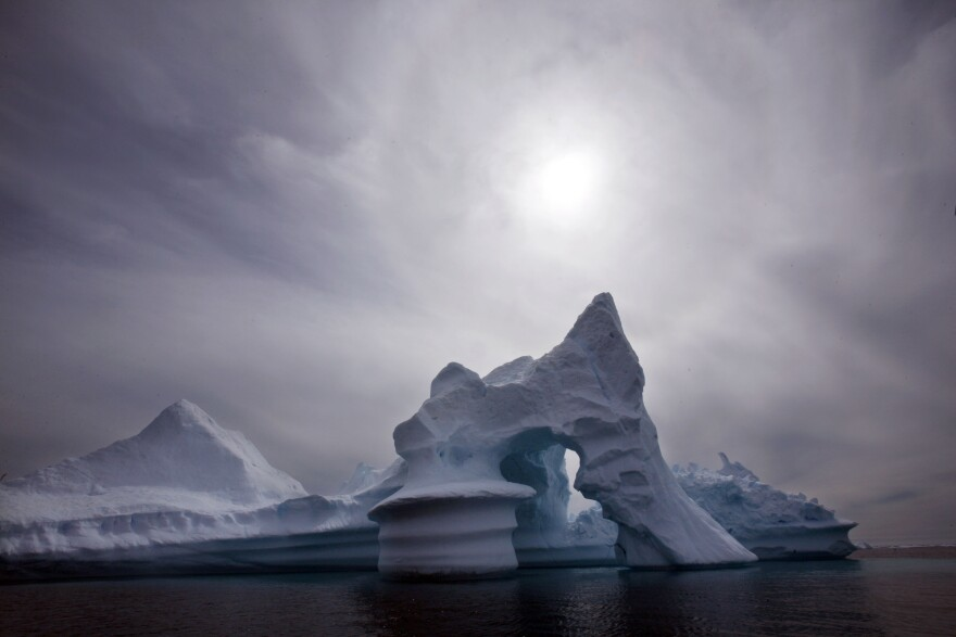 An iceberg is seen off Ammassalik Island in Eastern Greenland. Denmark, together with Greenland, will claim around 350,000 square miles of the continental shelf in the Arctic Ocean, in an area around the North Pole.