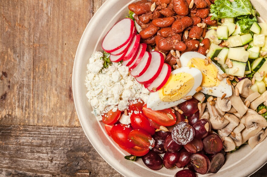 Everytable's California Cobb salad dish