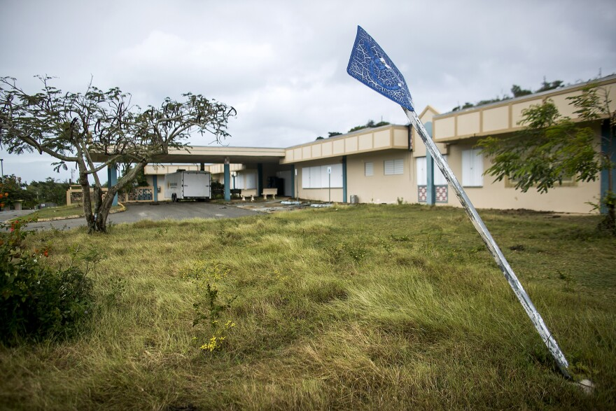 The Family Health Center Susana Centeno on remote Vieques island, part of Puerto Rico, was forced to close after it suffered damage from Hurricane Maria in 2017.