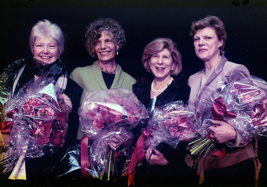 Linda Wertheimer (left to right), Susan Stamberg, Nina Totenberg and Cokie Roberts helped shape NPR's sound and culture at a time when few women held prominent roles in journalism.
