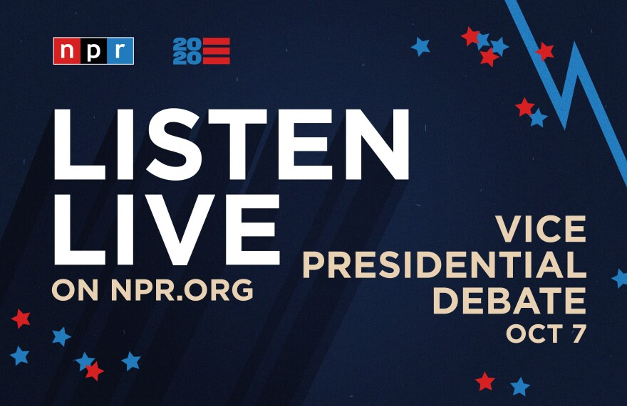Listen to the vice presidential debate between Vice President Pence and Sen. Kamala Harris.