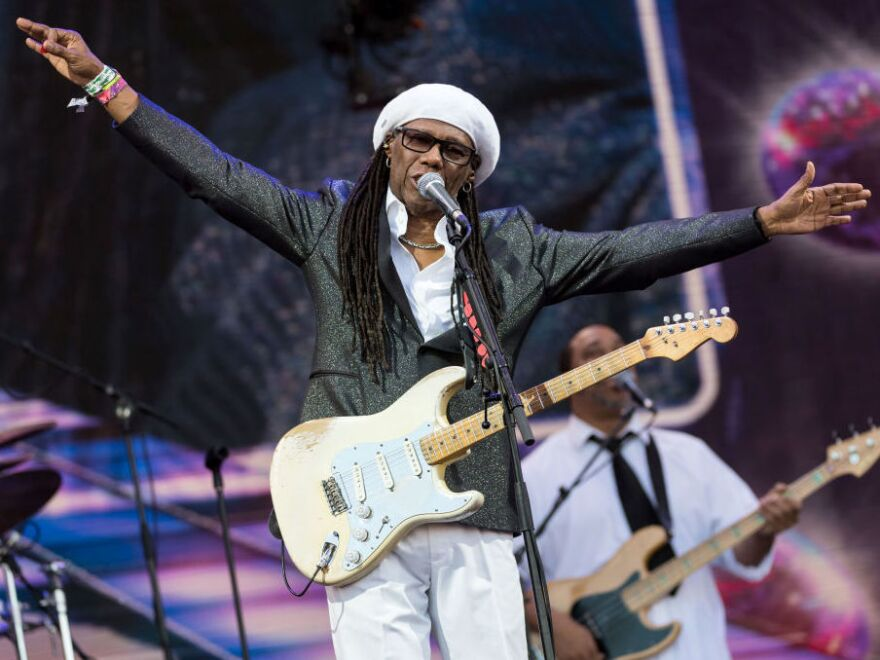 Nile Rodgers, performing at the Glastonbury Festival in England in June 2017.