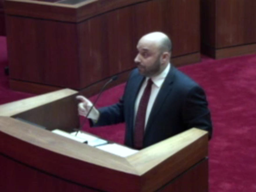 Arkansas Solicitor General Lee Rudofsky presenting his arguments to the court Thursday.