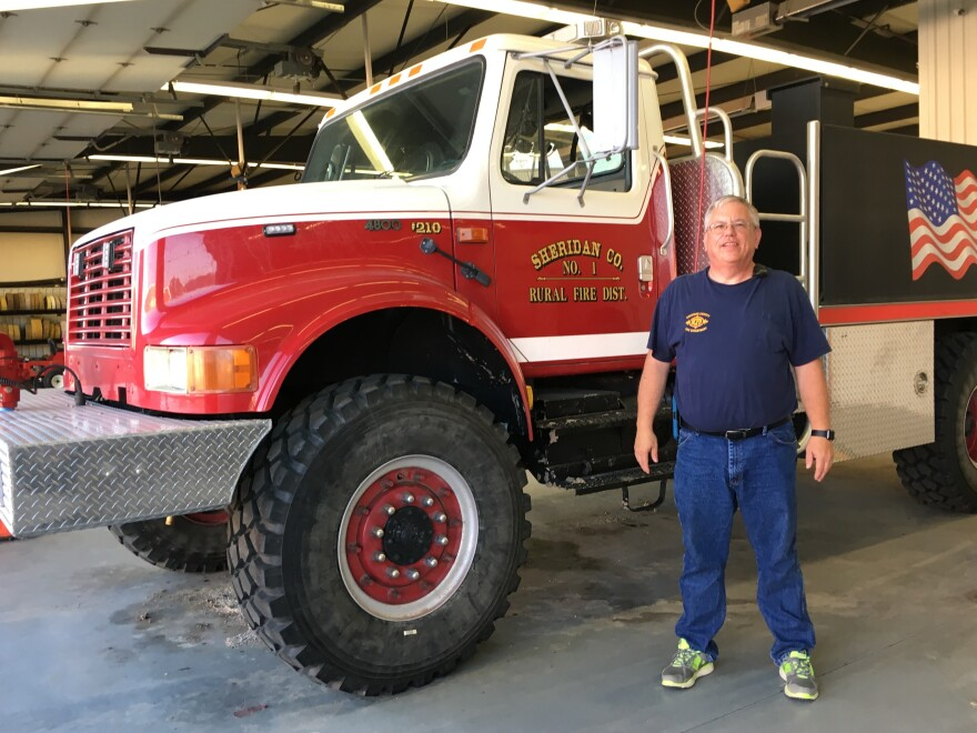 Steve Hirsch boasts that the fire department in tiny Hoxie, Kan., is fully staffed. But, Hirsch says, if you get in a wreck on a rural stretch of highway nearby, another department may not be.