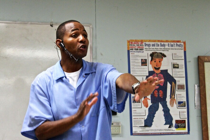 """Curtis Carroll — also known as """"Wall Street"""" —  teaches prisoners at San Quentin State Prison about stocks."""