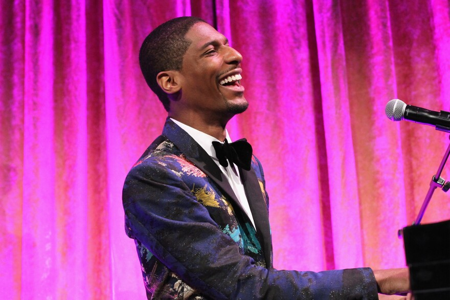 Jon Batiste performs during the National CARES Mentoring Movement's 2nd Annual for the Love of Our Children Gala at Cipriani 42nd Street on Jan. 30, 2017 in New York City.
