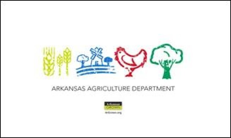 This was designed by Chris McMilian of Little Rock.  His design was for a children's t-shirt and was selected as an honorary winner of the Arkansas Department of Agriculture's t-shirt design contest for Arkansas Grown.