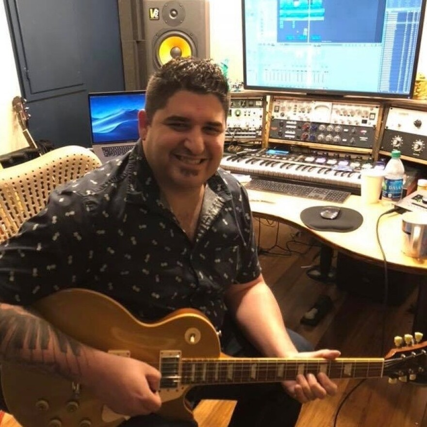 """Miykael Goodwin feeling jazzed as he works on a professional studio production of """"One of These Days"""" in Nashville."""