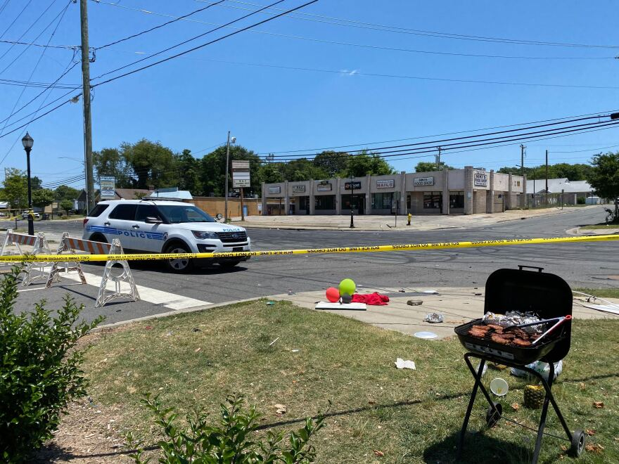 Beatties Ford Road shooting aftermath. 06/22/20