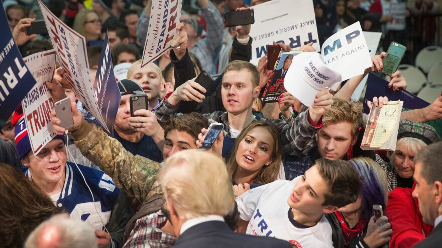 Apparent Republican nominee Donald Trump has won more raw votes from 18-29 year olds this primary season than likely Democratic nominee Hillary Clinton, even though young voters lean Democratic.
