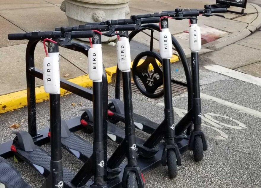 Electric scooters started appearing on St. Louis streets in summer 2018. (May 28, 2020)