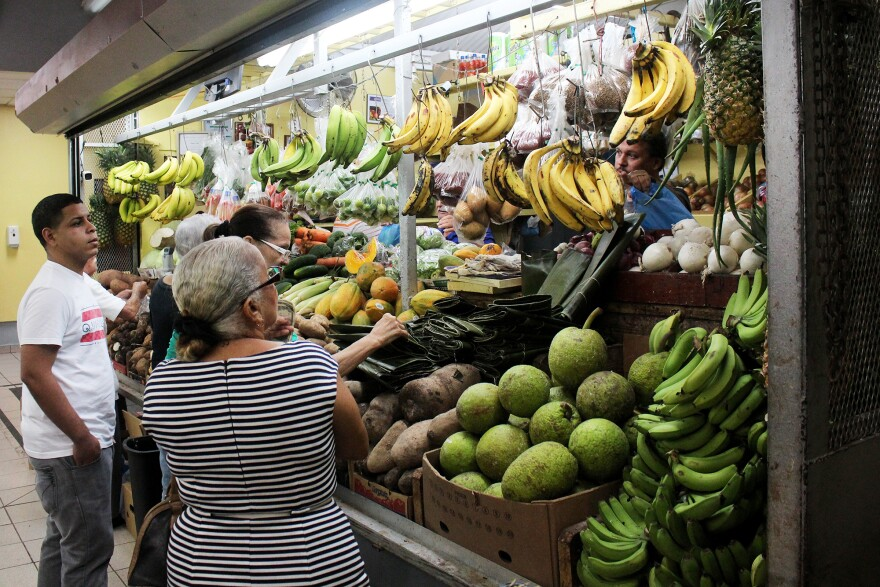 Shoppers at the market in Mayagüez, Puerto Rico, can choose from many more varieties of banana than what's available in the average U.S. grocery store.