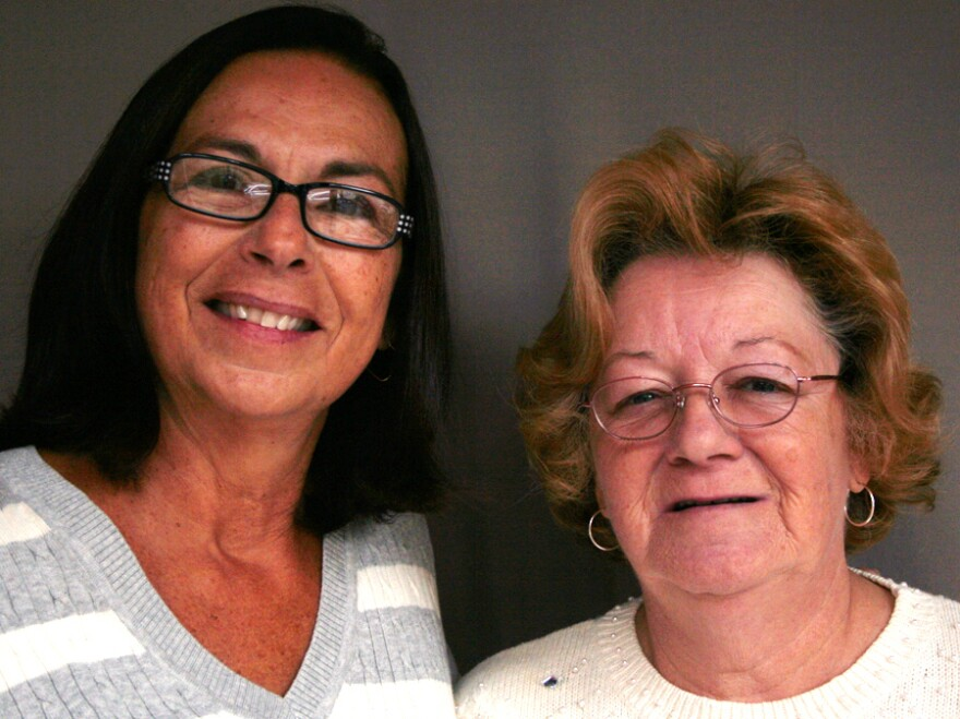 Susan Mello Souza (left) and Mary Moran Murphy met as teenagers at a home for unwed mothers in Massachusetts. Decades later, the women are still friends.