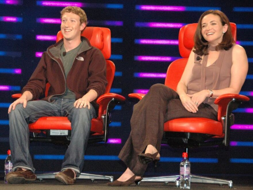 Facebook CEO Mark Zuckerberg and Facebook COO Sheryl Sandberg, in 2008.
