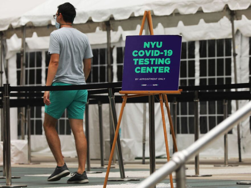 Students arriving at New York University last fall were required to get tested for the virus upon arrival, and then have to be tested again seven to 10 days later. Experts say community leaders could learn a lesson from how campuses have handled the pandemic.