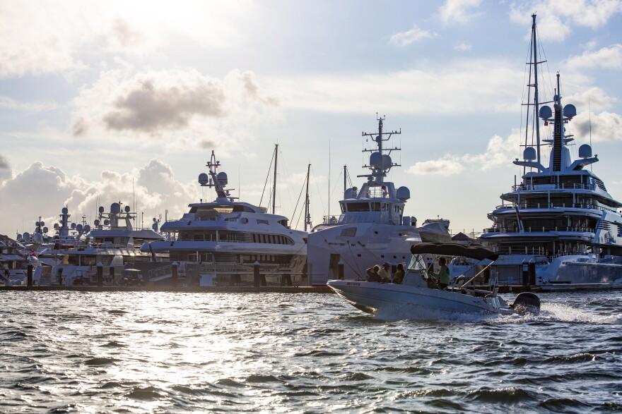 The Rybovich superyacht marina in West Palm Beach, Florida.